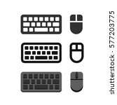 keyboard and mouse icons flat... | Shutterstock .eps vector #577203775