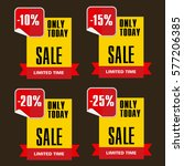 super sale  paper banner  sale... | Shutterstock .eps vector #577206385