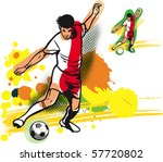 soccer player   Shutterstock .eps vector #57720802