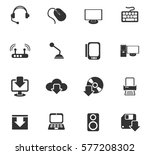 computer vector icons for user... | Shutterstock .eps vector #577208302