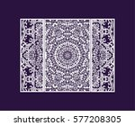 flyer laser cut a mandala. cut... | Shutterstock .eps vector #577208305