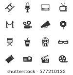 cinema vector icons for user... | Shutterstock .eps vector #577210132