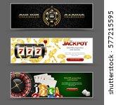 vip poker luxury horizontal web ... | Shutterstock .eps vector #577215595