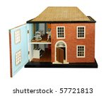 Antique Dolls House With Open...