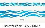 marine seamless pattern with... | Shutterstock .eps vector #577218616