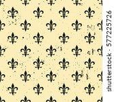 fleur de lis  seamless pattern. ... | Shutterstock .eps vector #577225726