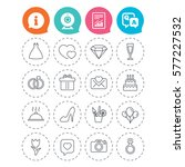 wedding and party icons. dress  ... | Shutterstock . vector #577227532
