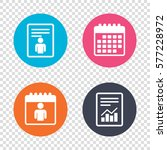 report document  calendar icons.... | Shutterstock . vector #577228972