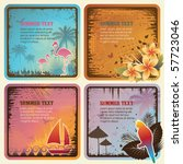 tropical cards | Shutterstock .eps vector #57723046