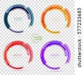 circle set. vector illustration.... | Shutterstock .eps vector #577233685