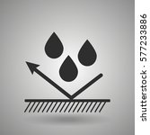 hydrophobic material icon  | Shutterstock .eps vector #577233886