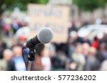 protest. public demonstration.... | Shutterstock . vector #577236202