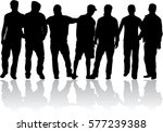 black silhouette of a man. | Shutterstock .eps vector #577239388