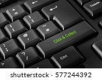 computer keyboard with click  ... | Shutterstock . vector #577244392