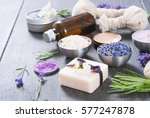 beauty product samples with... | Shutterstock . vector #577247878