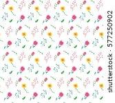 seamless flower pattern. vector ...   Shutterstock .eps vector #577250902