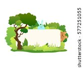 kids template with a place for...   Shutterstock .eps vector #577251055