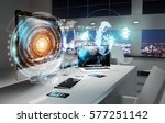 office with modern devices and... | Shutterstock . vector #577251142