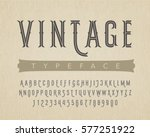 decorative vintage typeface on... | Shutterstock .eps vector #577251922