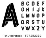 impossible geometry letters.... | Shutterstock .eps vector #577253392