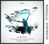 dancing people | Shutterstock .eps vector #577255246
