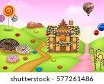 fantasy sweet candyland  | Shutterstock . vector #577261486
