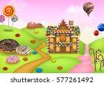 fantasy sweet candyland  | Shutterstock .eps vector #577261492