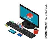 vector illustration. the... | Shutterstock .eps vector #577261966