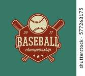 baseball club logo. vintage...   Shutterstock .eps vector #577263175
