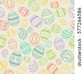 vector egg thin line seamless... | Shutterstock .eps vector #577266586