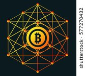 the bitcoin sign for web design ... | Shutterstock .eps vector #577270432