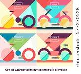 set of bicycle vector business...   Shutterstock .eps vector #577270528