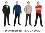 set of business man  isolated... | Shutterstock .eps vector #577271902