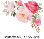 Watercolor Floral Composition....