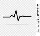 pulse monitoring glyph icon ... | Shutterstock .eps vector #577272175