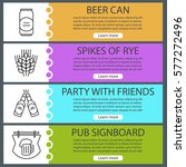 beer banner templates set. beer ...