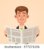 businessman character reading... | Shutterstock .eps vector #577273156