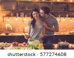young beautiful couple in... | Shutterstock . vector #577274608