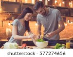 young beautiful couple in...   Shutterstock . vector #577274656