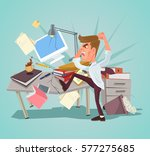 angry office worker character... | Shutterstock .eps vector #577275685