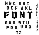 memphis style letters. set of...   Shutterstock .eps vector #577275826