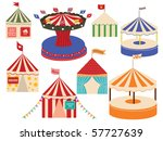 different sets of circus big... | Shutterstock . vector #57727639