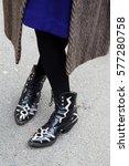 paris january 21  2015. street... | Shutterstock . vector #577280758