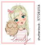 hand drawn beautiful  cute... | Shutterstock .eps vector #577281016