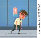 tired man office worker... | Shutterstock .eps vector #577282066