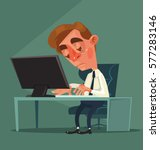 tired office worker man... | Shutterstock .eps vector #577283146