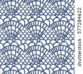 crochet pattern. knitting... | Shutterstock .eps vector #577284622
