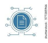 web document flat linear long... | Shutterstock .eps vector #577285966
