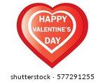 valentine red heart on white... | Shutterstock .eps vector #577291255