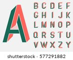 impossible shape font. memphis... | Shutterstock .eps vector #577291882